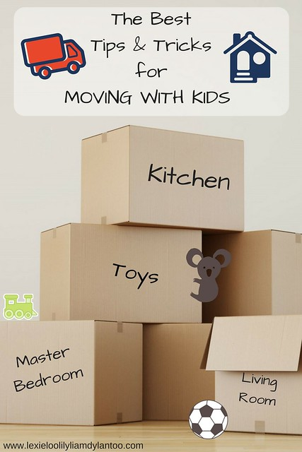 The Best Tips and Tricks to minimize the stress of moving with kids! #sponsored