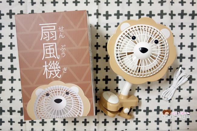 Momonga.Latte日本夾式電風扇 (2).JPG