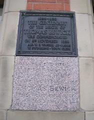 Photo of Thomas Bewick stone plaque