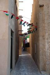 UAE Flags in Old Town Dubai