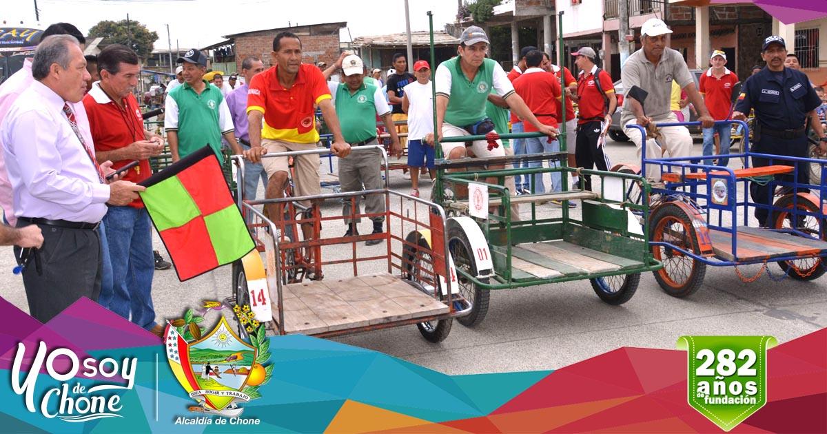 Exitosa resultó la competencia de triciclos en la avenida 14 de Agosto