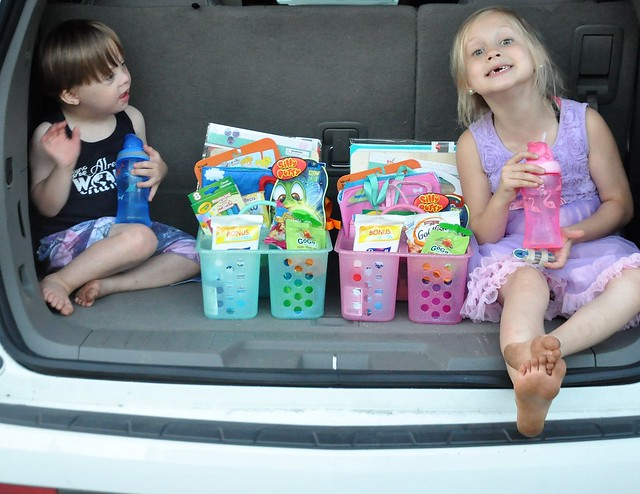 Road Trip Caddy Ideas for Kids