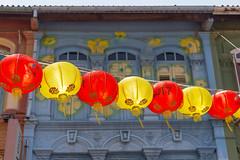 Lampen in Chinatown, Singapur