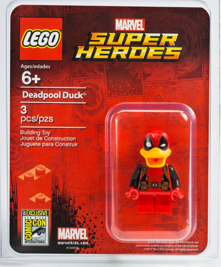 又壞又可愛!!太犯規了吧~~2017 SDCC 樂高限定人偶 LEGO Marvel 超級英雄系列【死侍鴨】Deadpool Duck