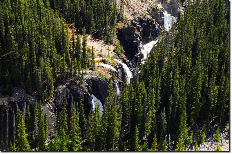 Columbia Glacier Skywalk View of Falls Below