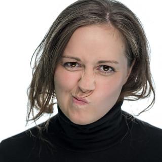 Michèle, actress, pouting