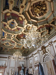 Rome_Italy_Capitoline Museum_Ceiling_Chandelier_3971