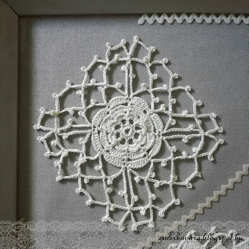 crochet flowers in frame (6)