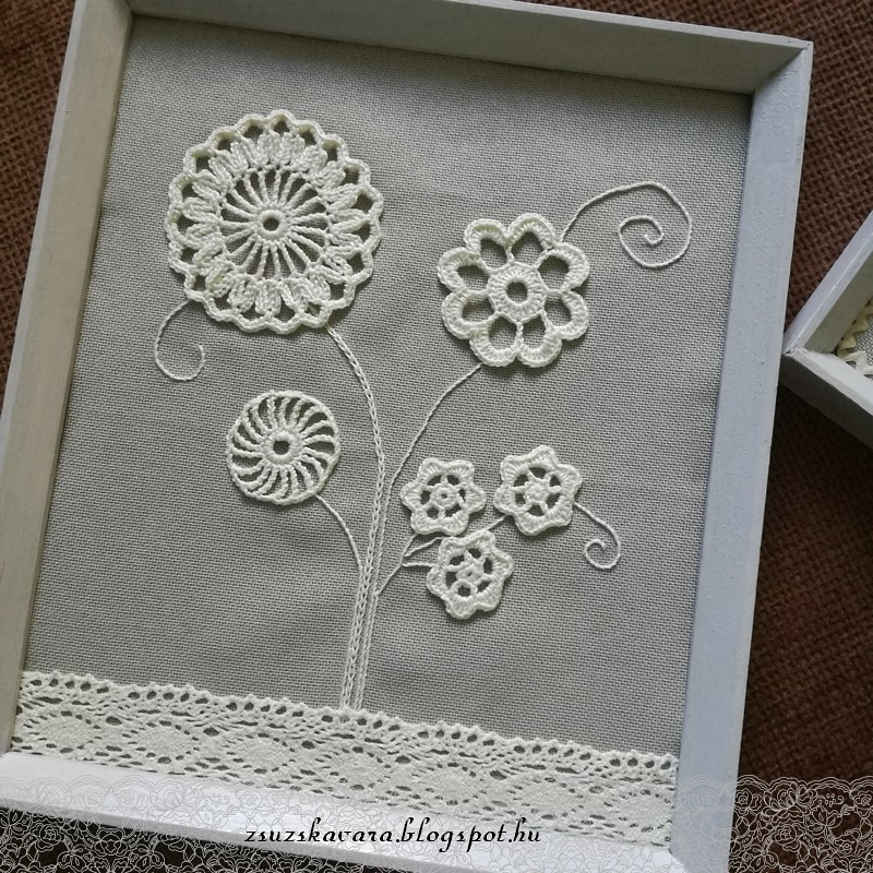 crochet flowers in frame (5)