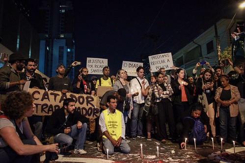 Protesto contra o assassinato de Ricardo (quinta-feira 13/07/2017)
