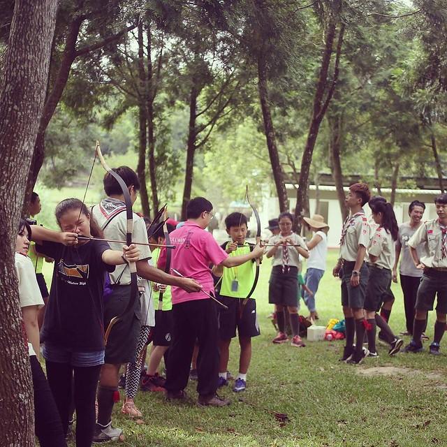 20170722 傳統射箭課程 超酷的 #歐北露 #台灣露營協進會 #2017小小領袖兒童夏令營 #campinglife