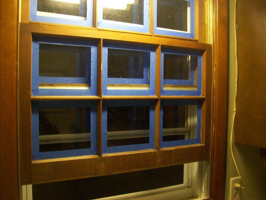 Window awaiting painting