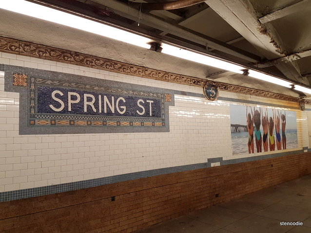 Spring Street subway station art