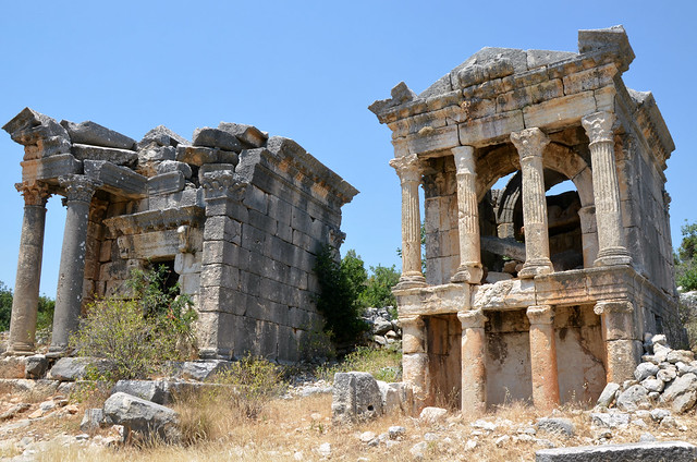 Two monumental temple-tombs at the ancient city of Imbriogon at Demircili, Cilicia