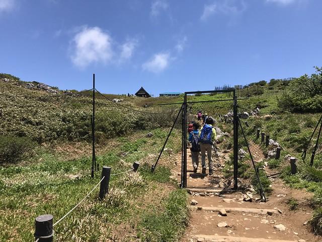 伊吹山 表登山道 獣害対策ゲート