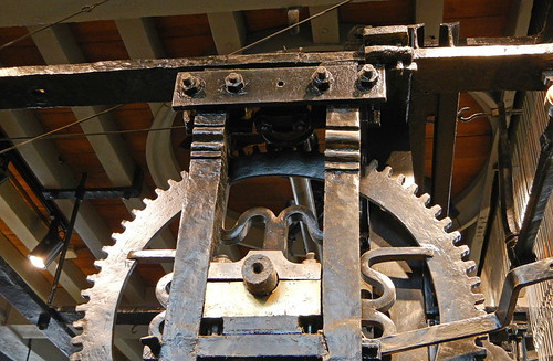 The gears used to toll the bell in Brugges' Belltower, Belgium