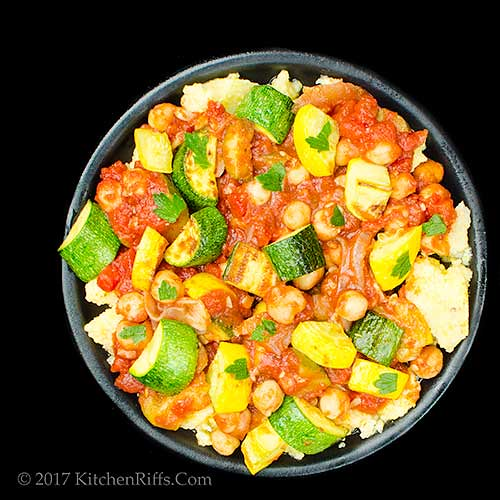 Zucchini and Chickpea Stir-Fry