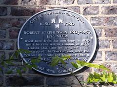 Photo of Robert Stephenson black plaque