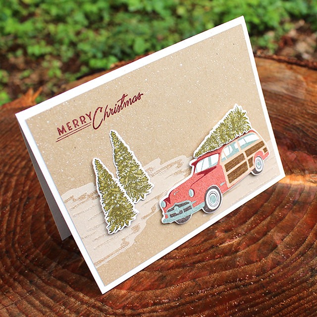 Merry Christmas Station Wagon Card 2
