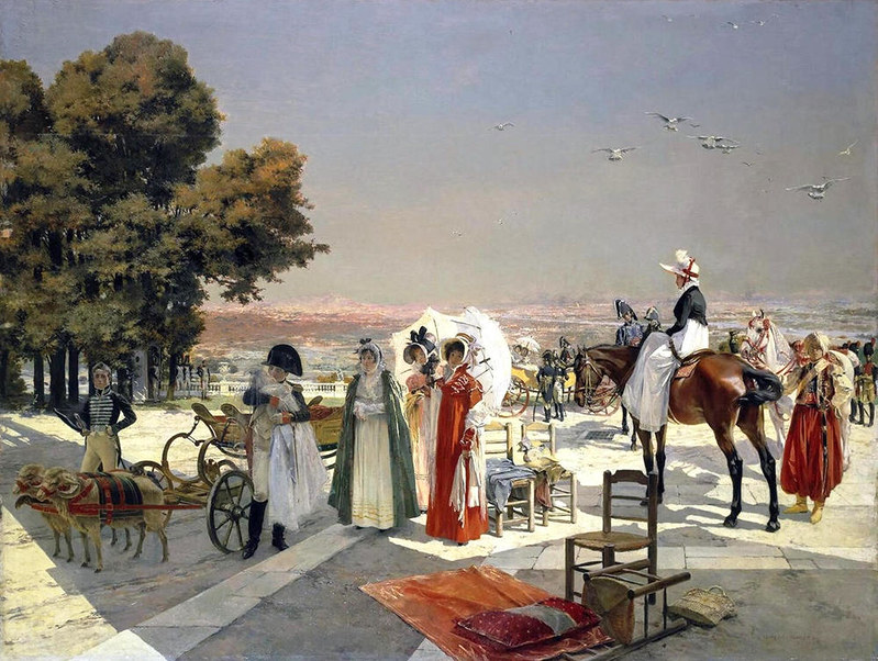 Napoleon I and the King of Rome at Saint-Cloud in 1811 by Francois Flameng