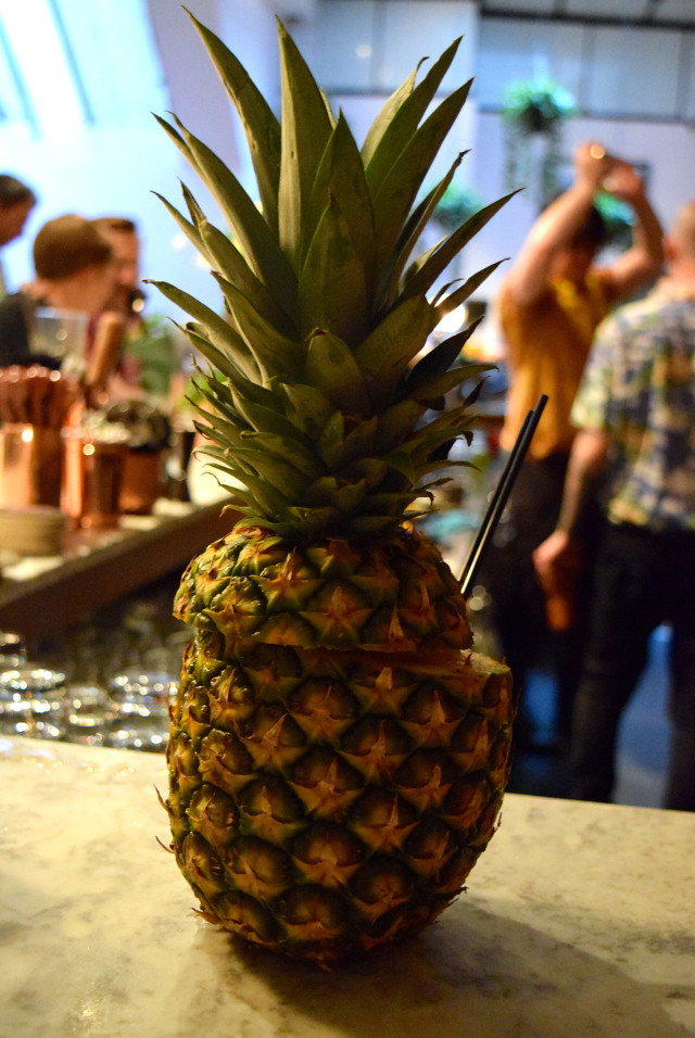 Rum Filled Pineapple at Merchant House, The City | www.rachelphipps.com @rachelphipps