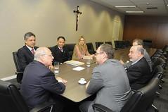 Prefeito em exercício Paulo Lamac reune  com Presidente em exercício do TJMG - Geraldo Augusto