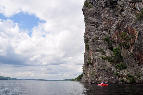 The big, big, big Mazinaw against the sky, Bon Echo