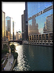 "Chicago River near ""that""  [ ; o ] Building...."