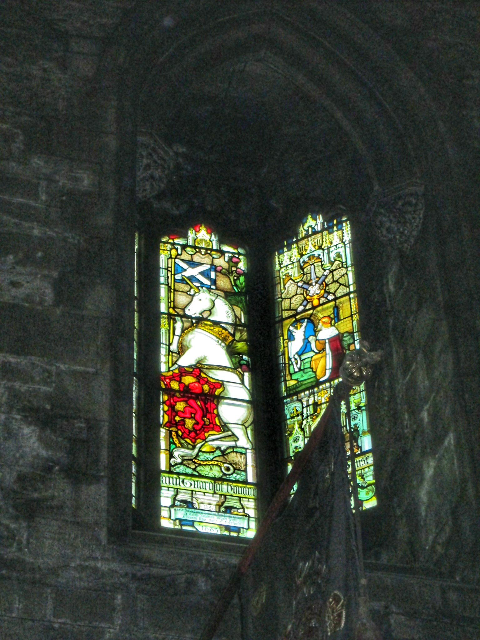 St Giles Cathedral Stains glass window horse