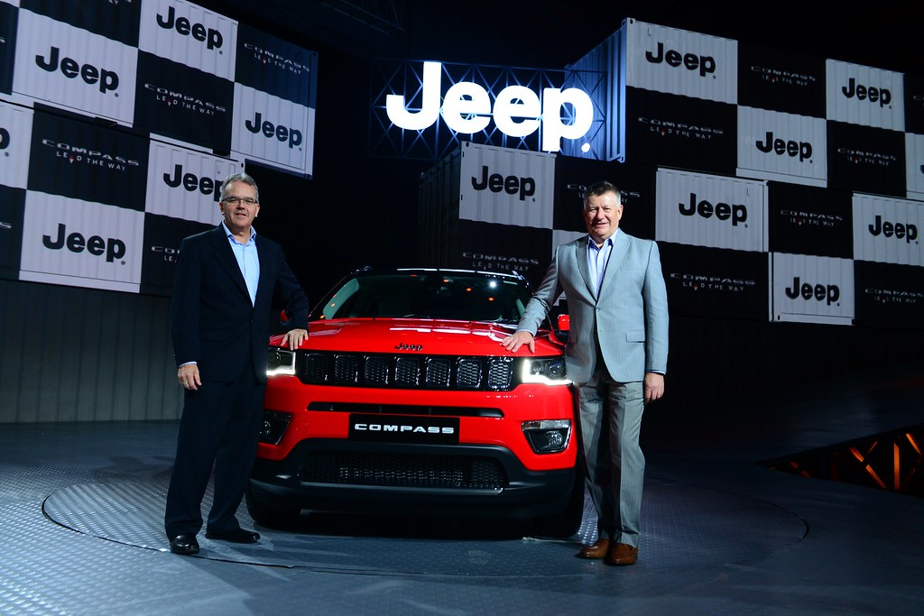 L-R- Mr. Paul Alcala- COO%2c FCA Asia Pacific Region (excl. China) and Mr. Kevin Flynn - President & MD%2c FCA%2c India at the India launch and Price Announcement of the Jeep Compass (1)