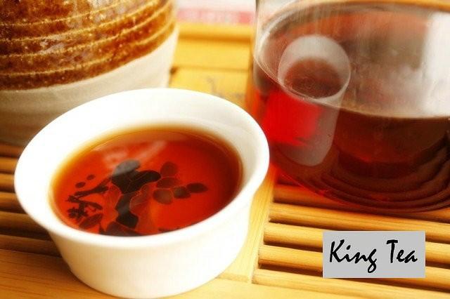 Free Shipping 2010 LaoMan'E BuLang Mountain OldTree Cake YunNan MengHai Chinese Puer Puerh Ripe Tea Cooked Shou Shu Cha