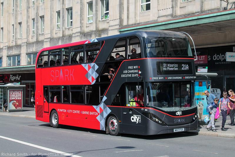 Plymouth Citybus 552 WA17FSX