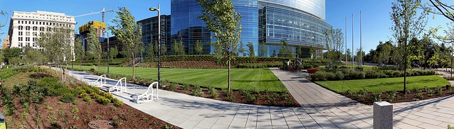 Northwestern Mutual grounds along Wisconsin Avenue (panorama)