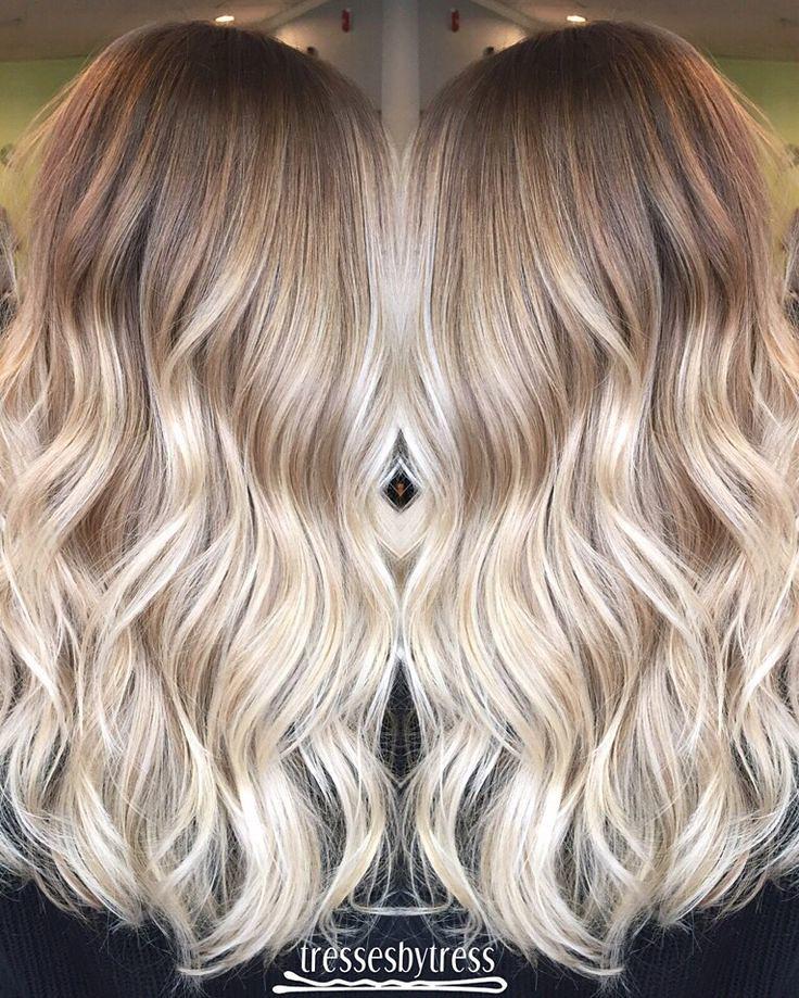 Brunette Balayage \u0026 Hair Highlights  Blonde ombré balayag