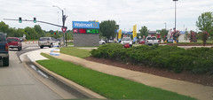 Approaching the now open Olive Branch MS Walmart fuel center