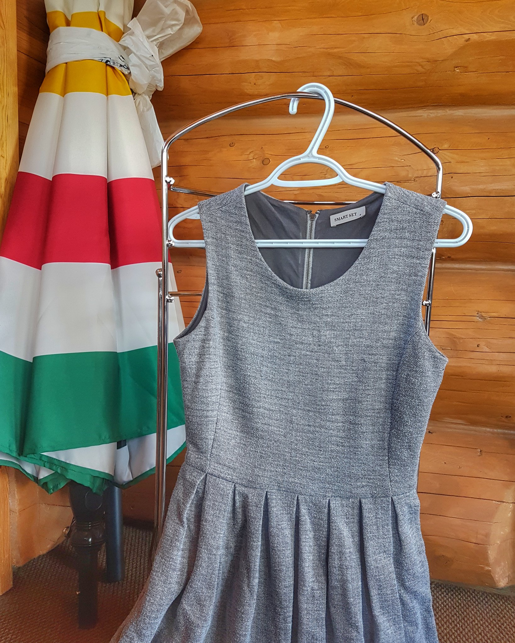 Smart Set Grey ALine dress
