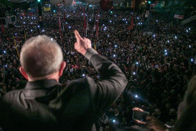 Ex-presidente discursou em manifestação convocada pela Frente Brasil Popular e Povo Sem Medo - Créditos: Mídia Ninja