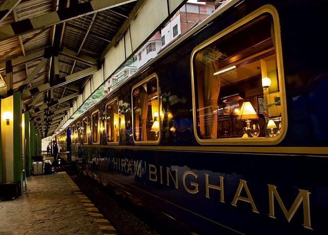 On board the Hiram Bingham train - on the way to Machu Picchu