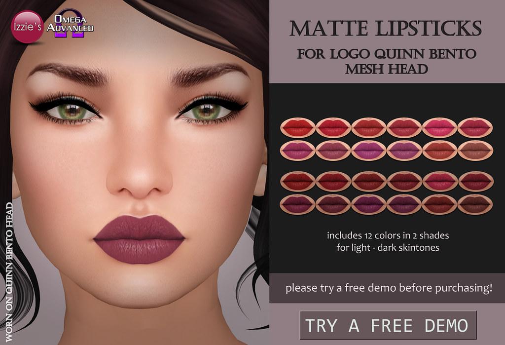 LOGO Quinn Matte Lipsticks - SecondLifeHub.com