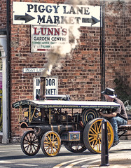 Steaming down Piggy Lane, Withernsea.