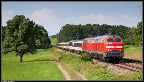 DB 218 423-2 + 218 463-8 @ Mollenberg