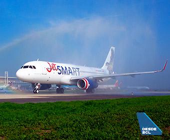 JetSMART A320 Akori Arco de Agua 1 (Luis Colima)