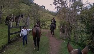Horseback riding in Silvia