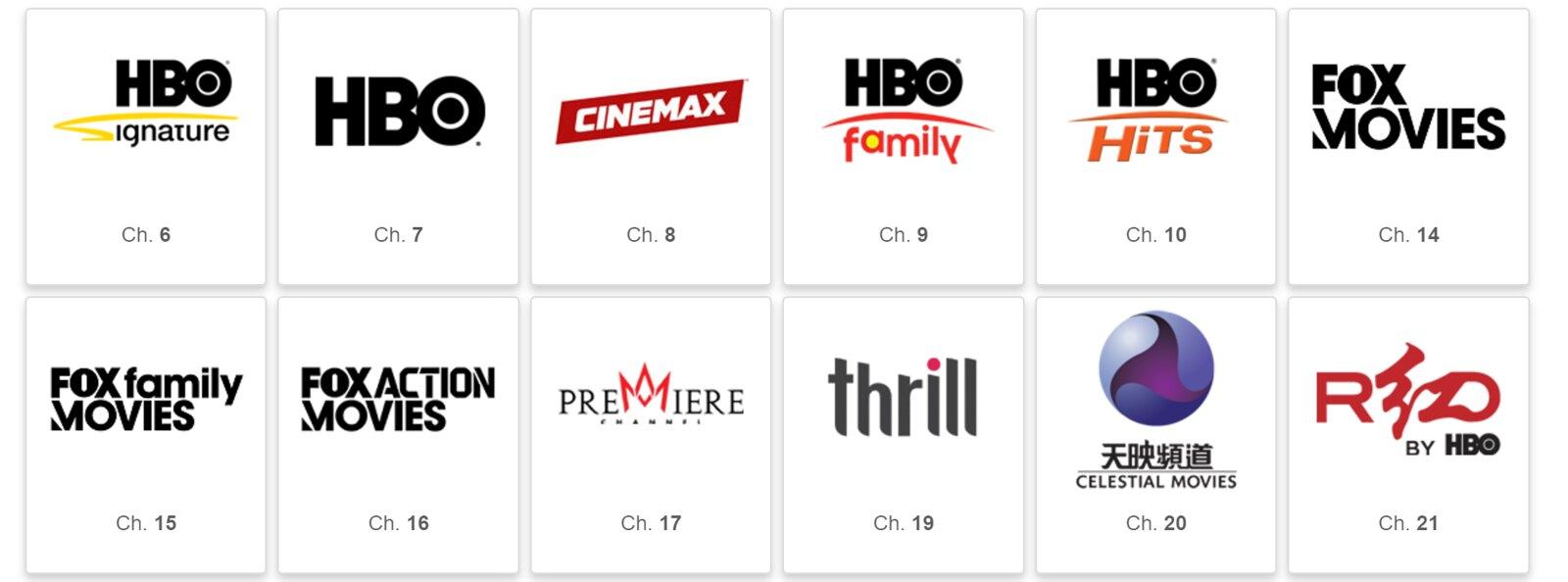 Gói kênh Indovision