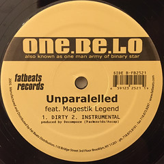 ONE. BE. LO:SLEEPWALKING(LABEL SIDE-B)