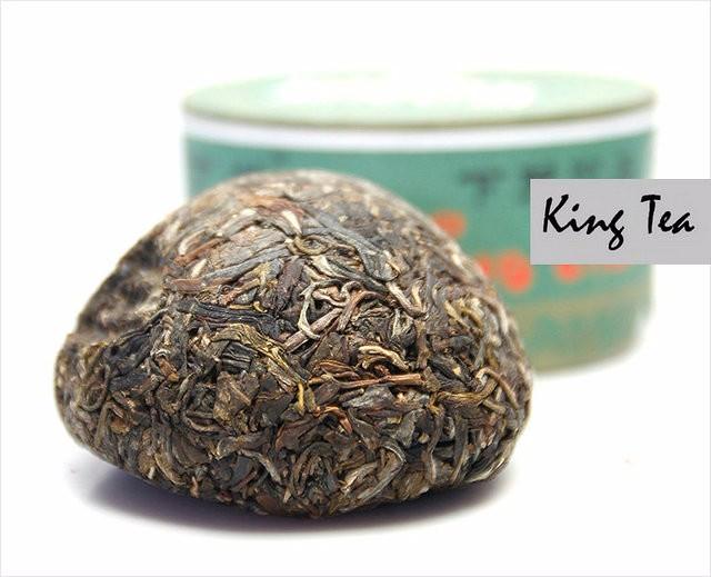 Free Shipping 2012 XiaGuan JiaJi Green Boxed Tuo 100g China YunNan KunMing Chinese Puer Puerh Raw Tea Sheng Cha Weight Loss