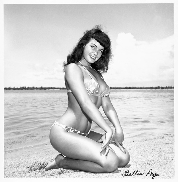 Autographed Bettie Page photo