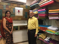 With Ms Kavita Awasthi of Poshakh, Pune