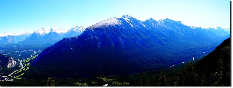Mount Rundle And Spray Valley From Banff Gondola On Sulphur Mountain
