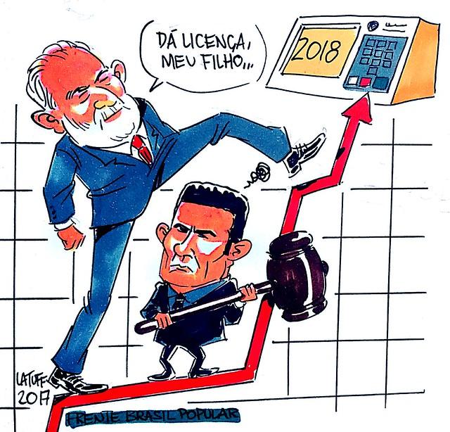 Lula, Moro e a disputa presidencial - Créditos: Carlos Latuff